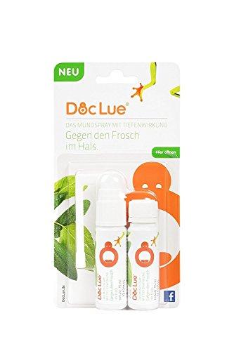 DocLue® gegen den Frosch im Hals   patentierte Wirkstoffformel mit Tiefenwirkung   Atemfrische   Heiserkeit   Stimmermüdung   räusperfrei   Mundspray   Rachenspray   Made in Germany   300 Anwendungen