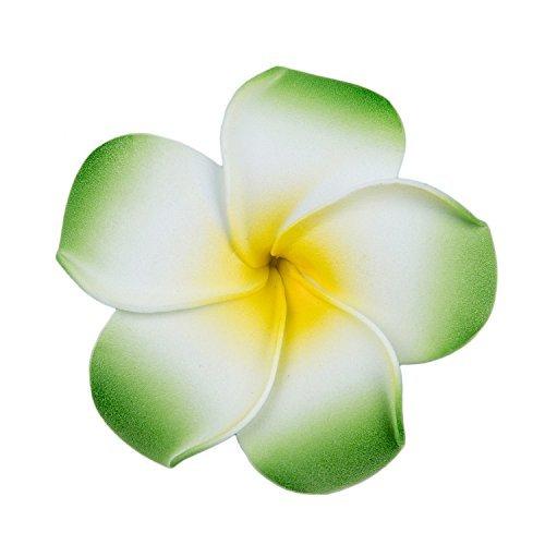 SODIALR-Broche-Pinza-Con-Flor-Espuma-Plumeria-Para-El-Pelo-Green