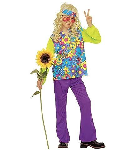 Widmann - Déguisement hippie boy 11/13 ans