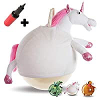 Waliki TOYS Space Hopper Ball For Kids Ages 3-5 (Hippity Hop Ball, Hopping Ball, Bouncy Ball With Handles, Sit & Bounce, Kangaroo Bouncer, Jumping Ball, Unicorn, Pump Included) (Unicorn)