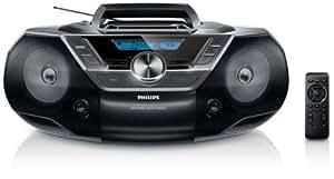 Philips AZ1850/12 Radio Lecteur CD / CD-R / CD-RW / CD-MP3 / CD-WMA 2 x 1 W