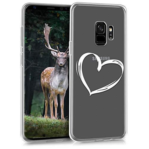 kwmobile Samsung Galaxy S9 Hülle - Handyhülle für Samsung Galaxy S9 - Handy Case in Weiß Transparent