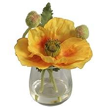 BELLAFIORA 20AMAZ041507 - Flor artificial, amapola, color amarillo