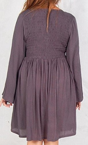Lotustraders -  Vestito  - stile impero - Basic - Maniche lunghe  - Donna Green