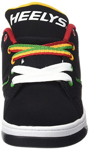 Heelys Jungen Propel 2.0 770603 Lauflernschuhe Sneakers, Rasta, UK 7 / EU 40 Schwarz (Black / Reggae)