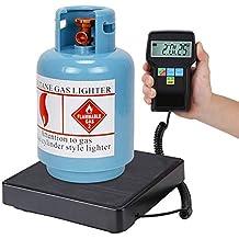 EBTOOLS Báscula Refrigerante Electrónica la Medida Más Pesada 220LB Pesadora de Carga de Refrigerante Escala de