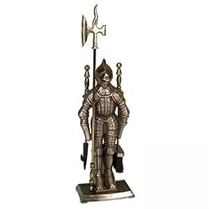 Lienbacher 831 Serviteur de cheminée 3 pièces en forme de chevalier