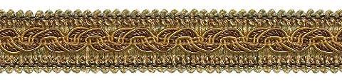 8,2m Value Pack–Marron doré Baroque Collection Gimp Tresse 1–1/10,2cm Style