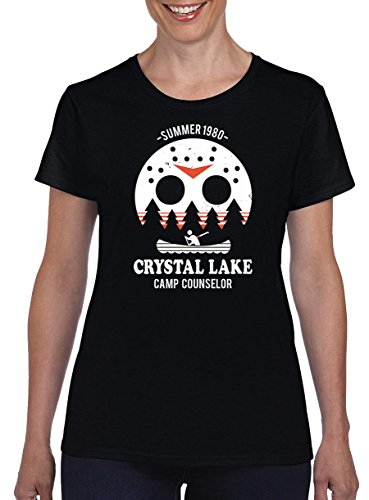 TSP Camp Crystal Lake Damen T-Shirt M Schwarz