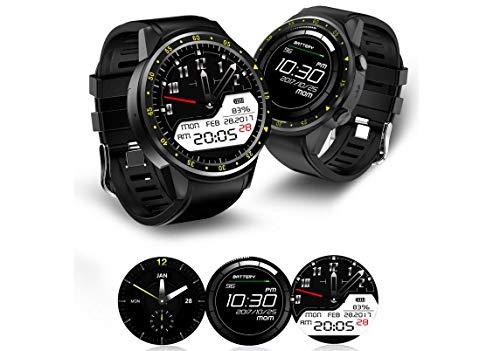 AQWWHY Herren Smart Watch, Sport Fitness Tracker mit Pulsmesser, Schlaf-Monitor, SIM-Karte Smartwatch mit Kamera für iPhone und Android-Smartphones