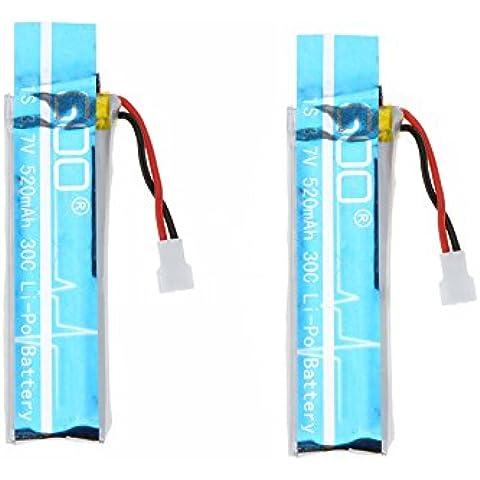 Goolsky Wltoys V977-006(VA13) 3.7 v 520mAh 30C Lipo Batteria 2Pcs