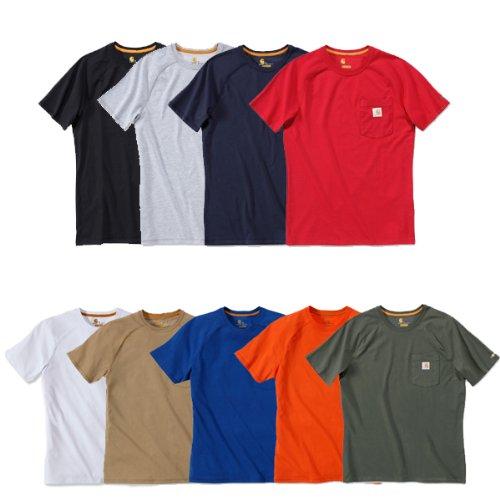 Carhartt Force® Cotton Short Sleeve T-Shirt Baumwolle mit Brusttasche 100410 Rot