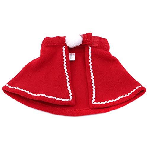 Winwinfly Weihnachten Hund Katze Mantel Cute Einstellbare Weihnachtsmann Pet Kleidung Kostüm für kleine Haustiere, M