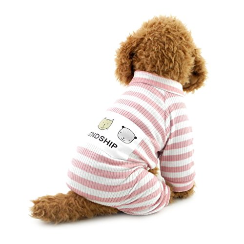 Pet Jumpsuit klein Hund Outfits Hund Kleidung Pet Shirt mit Streifen, groß, grau (Fett Outfit Ideen)