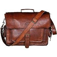 🎁 Sac messager unisexe fait à la main | cuir véritable | 15 pouces | sac pour ordinateur portable | cartable | sacoche | sac à bandoulière vintage | livraison gratuite