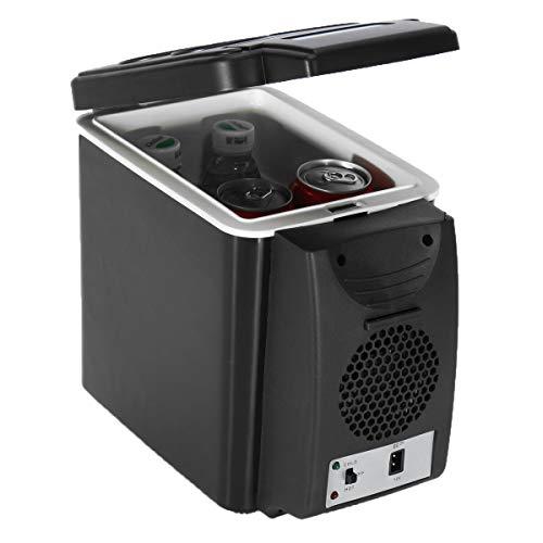 Viviance 6L 12V 37W Kühl Wärme Temperatur 5 °C Bis 65 °C Mini Heißer Und Kalter Schwarzer Auto Kühlschrank