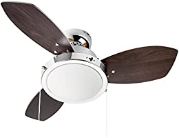 Westinghouse Lighting, Ventilatore da soffitto, 31  x 76  x 76  cm, colore pale reversibile: Wengue / Faggio