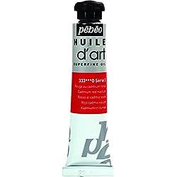 Pébéo-Pintura Aceite de arte 1Tubo de 20ml rojo cadmio oscuro