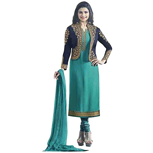 Crazy Women's Georgette Embroidered Semi Stitched Salwar Suits