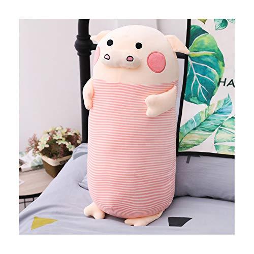 Gestreifte Polster (IIWOJ Simulation gestreifte Pig-Kissen-Polster, Soft Plush Doll, Home Decoration Girl Gift,Pink,90cm)