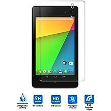 VIFLYKOO Google Nexus 7 II 2013 Protector de Pantalla, Google Nexus 7 II 2013 Cristal Templado Vidrio Templado 9H Dureza Shatterproof Tempered Glass Screen Protector para Google Nexus 7 II 2013 Tablet