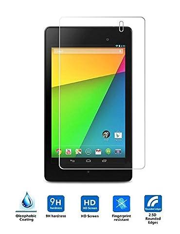 Google Nexus 7 II 2013 Protection écran en Verre Trempé,Vikoo 9H 0.3mm Ultra-mince Anti-rayures HD Film Protecteur d'écran en Tempered Glass Screen Protector pour Google Nexus 7 II 2013
