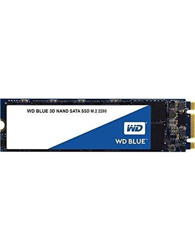 WD Blue 3D NAND M2 500GB. Interne NAND SATA III-SSD, 6 Gbit/s 2,5 Zoll (7mm) Festplatte von Western Digital. Verbesserte Energieeffizienz. Optimiert für Multitasking und ressourcenintensive Anwendungen WDS500G2B0B