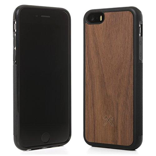 Woodcessories - Hülle kompatibel mit iPhone 5 /5s /SE aus FSC Holz - EcoBump Case (Walnuss) (5s Iphone Holz Case Aus)