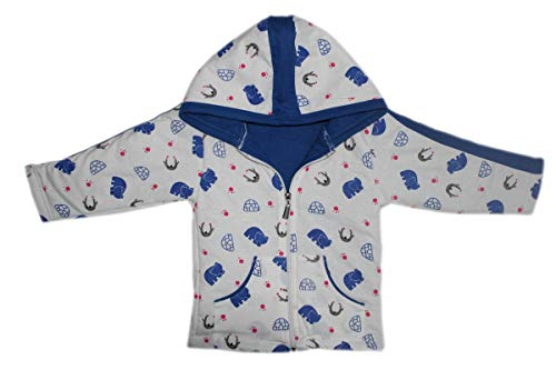 Brim Hugs and Cuddles Sweater/Winter Jackets with Hood and Zipper for Baby Girl and Baby boy(Blue,3 yearss)