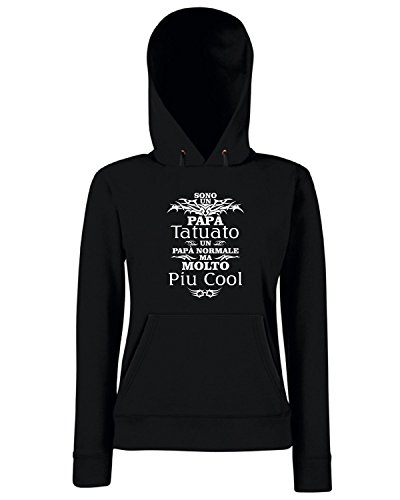 T-Shirtshock - Sweats a capuche Femme T1031 sono un papa tatuato fun cool geek Noir
