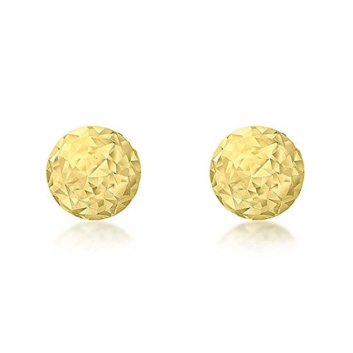 Carissima Gold Damen 9k (375) Gelbgold 3 mm Diamantschliff Ball Ohrstecker 1.55.7989