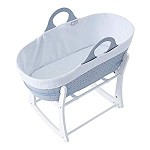 Tommee Tippee Sleepee Baby Moses Basket and Rocking Stand Grey   3