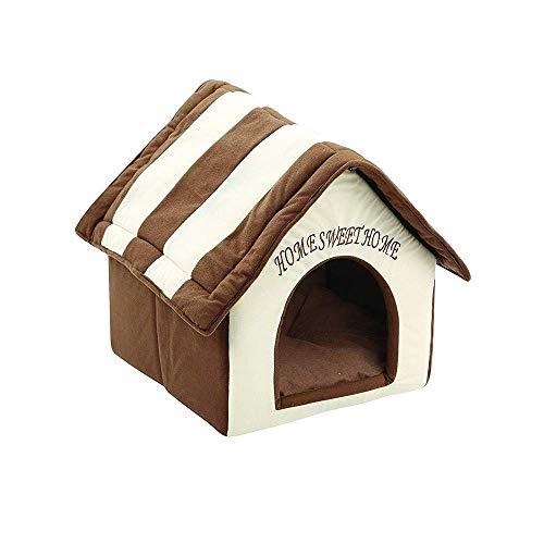 JHG Hundehütten Pet Kennel Dog House Kaffee Kennel Katzenstreu, Braun, 38 cm x 39,5 cm x 45 cm -