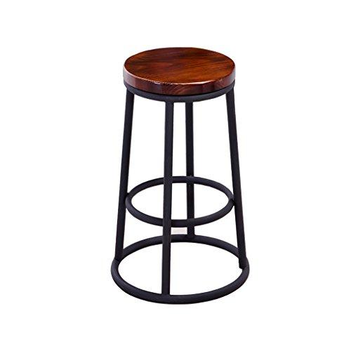 XUEPING Counter Stuhl Massivholz Barhocker Vintage Eisen Barhocker Western Restaurant Barhocker Coffee Shop Kaffee Barhocker Hoch 45-75 cm (Farbe : (2), Größe : One)