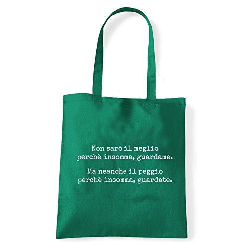 Art T-shirt, Borsa Shoulder Guardate, Shopper, Mare Verde