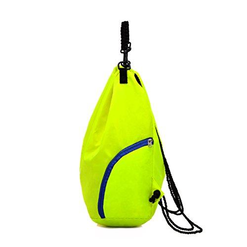 etach Outdoor Ausreit Schultertasche Sport Basketball Kordelzug Bag Travel Rucksack Yoga Fitness Folding Bag grün