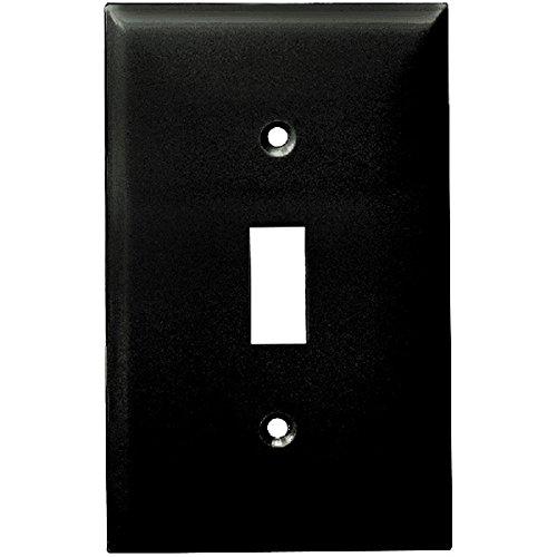 enerlites Toggle Lichtschalter Wall, Platten, 1-4fach, Standard Größe, Polycarbonat TPU, Weiß/Elfenbein/Schwarz/Licht Mandel Farbe Optionen 1 Gang 3. Black