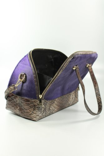 Belli, Borsa shopper donna Viola (Fell lila)
