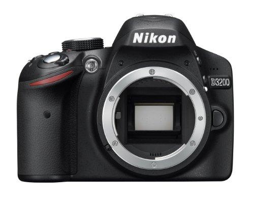 Nikon D3200 SLR-Digitalkamera (24 Megapixel, 7,4 cm (2,9 Zoll) Display, Live View, Full-HD) nur Gehäuse schwarz (Nikon En-el14 Akku-ladegerät)