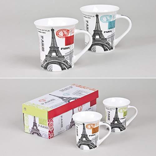 Coffret 2 mugs Paris