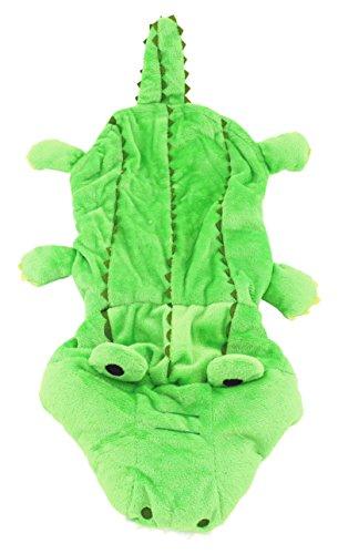 smalllee Lucky Store Warm Fleece Krokodil Kostüm Halloween Kleid bis für kleine Hunde/Katzen, Large, (Hund Kostüm Amazon Baby)