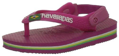 Havaianas Baby Brasil Logo, Infradito Unisex Bimbi Blu (Super Pink)