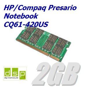 Notebook-420us (2GB Speicher / RAM für HP/Compaq Presario Notebook CQ61-420US)