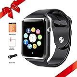 Bluetooth Smart Watches Touchscreen mit SIM-Karten-Slot, Smartwatch kompatibel mit Android-Handys und IOS Phone Smart-Armbanduhr für Männer Frauen Kids (schwarz)
