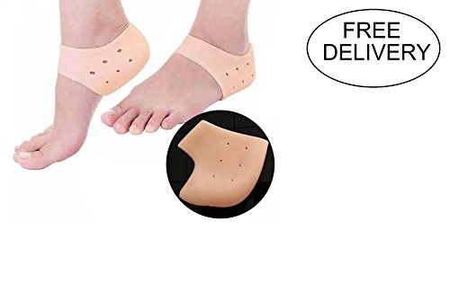 Peecure Silicone Gel Heel Pad Socks For Heel Swelling Pain Relief,Dry Hard Cracked Heels Repair Cream Foot Care Ankle Support Cushion For Men And Women