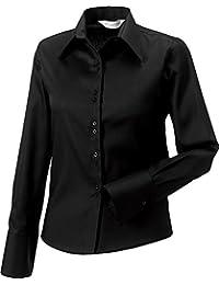 Russell Collection Damen Langarm Shirt Ultimate bügelfrei, stilvoll, Arbeits- und Berufsbekleidung