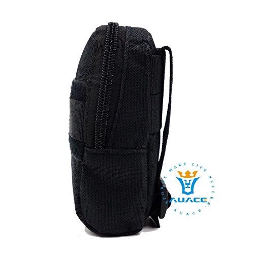 Multifunktions Survival Gear Tactical Beutel MOLLE Tasche Military Handytasche, Outdoor Camping Tragbare Travel Bags Handtaschen Werkzeug Taschen Taille Tasche BK