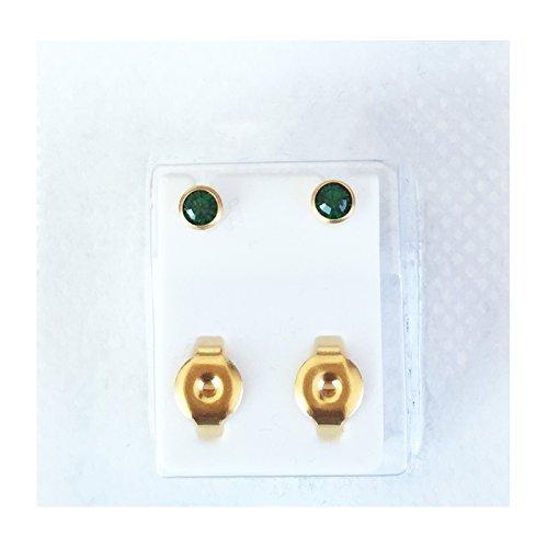 brand-new-ear-piercing-stud-4-mm-bezel-round-studs-earrings-stud-certified-sterile-sealed-pack-gold-