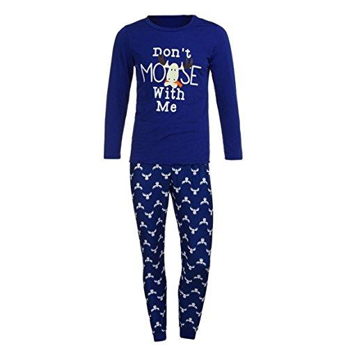 Pyjama Set für die Familie,Moonuy Herbst / Winter Heißer Mann Familie Passenden Weihnachten Pyjamas Set Frauen Kid Erwachsene PJs Nachtwäsche Beiläufige Nachtwäsche 1 * Bluse + 1 * hosen (Vater, S)