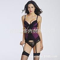 XiaoGao Doble Correas de Encaje,Purple XXL